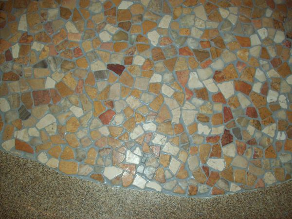 tile on pool floor