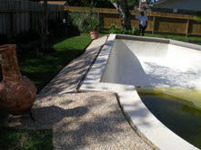 Floating gunite pools