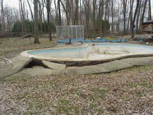 Floating concrete pool photos