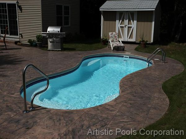 Concrete Pool Ideas bullnose coping for inground pools stone bullnose coping Concrete Pool Coping Artistic Pools Nj