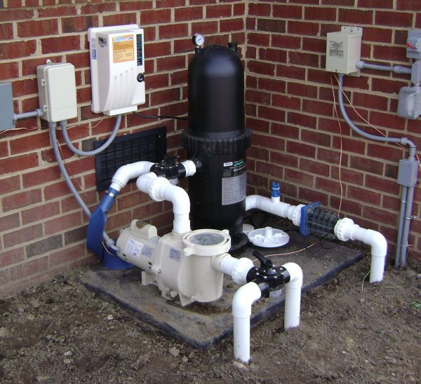 Where should i locate my pool filter system - Salt water pumps for swimming pools ...