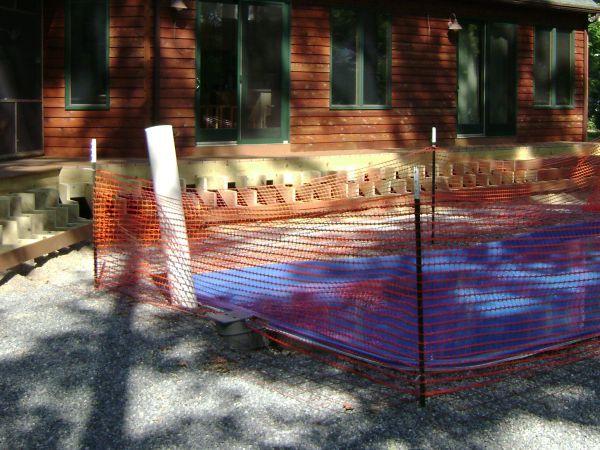 dewatering pipe for fiberglass pools