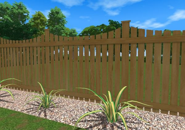 wood swimming pool fence