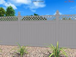 Vinyl swimming pool fence