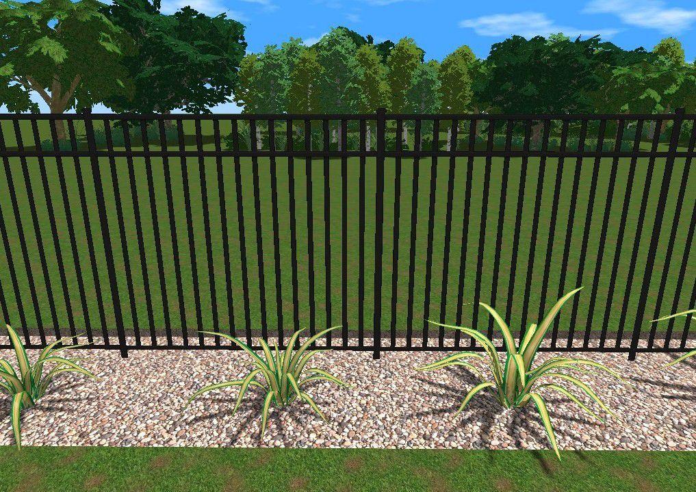 Aluminum pool fence