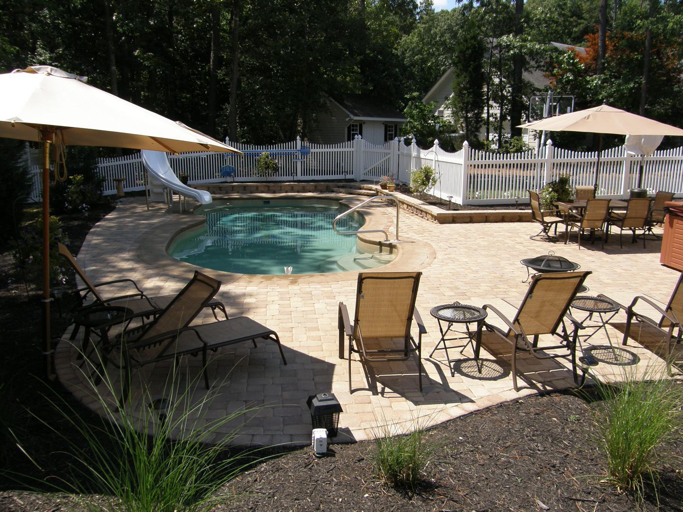 Pool Patio Materials Stamped Concrete Vs Pavers - Stamped concrete patio cost per square foot