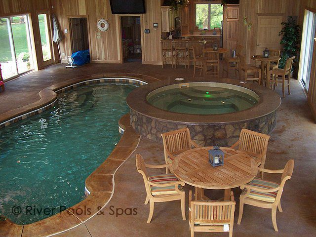 indoor fiberglass pool
