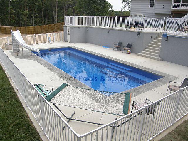 Large Fiberglass Pool (16