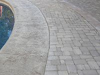 Stamped Concrete With Pavers
