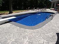 Fiberglass diving pool