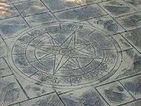 Compass Rose Decorative Stamp