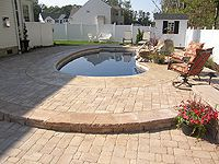 3 Foot Concrete With Paver Border