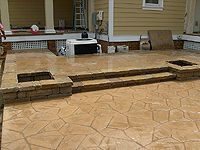 Arizona Flagstone Stamp Tan Color With Light Brown Accent