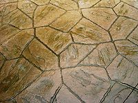 Arizone Flagstone Stamp Sandstone With Charcoal Accent