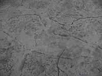 Jumbo Stone Stamp Light Grey With Medium Grey Accent