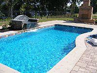 Elegant Fiberglass Pool