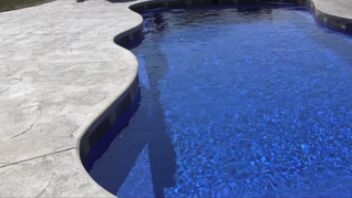 Textured Pool Patio