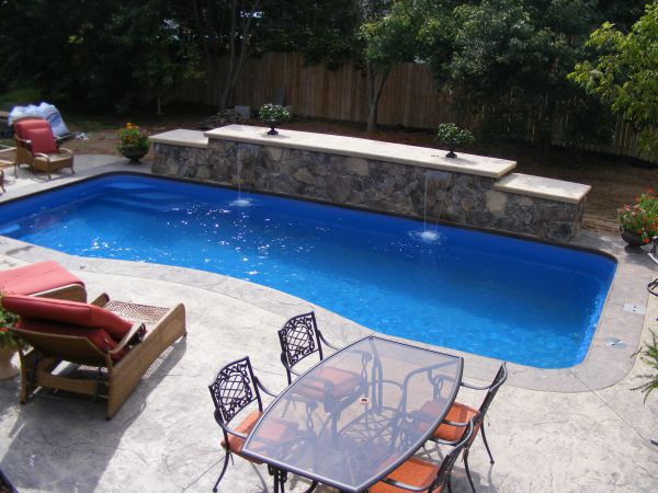 Stamped Concrete Pool Patio