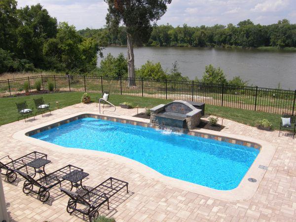 fiberglass pool patio and coping options