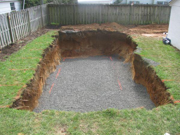 Fiberglass Pool Gravel Foundation