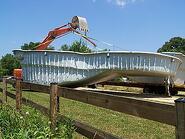 lifting a fiberglass pool