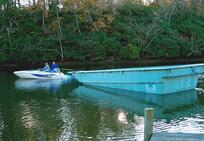 fiberglass pool boat delivery