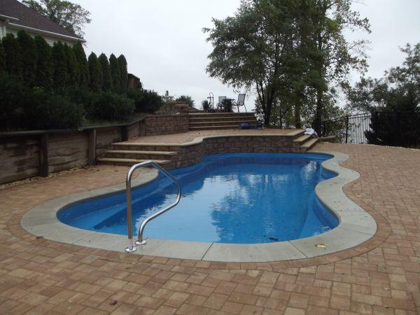 fiberglass Pool 15 x 30 installed by river pools and spas in fredericksburg va