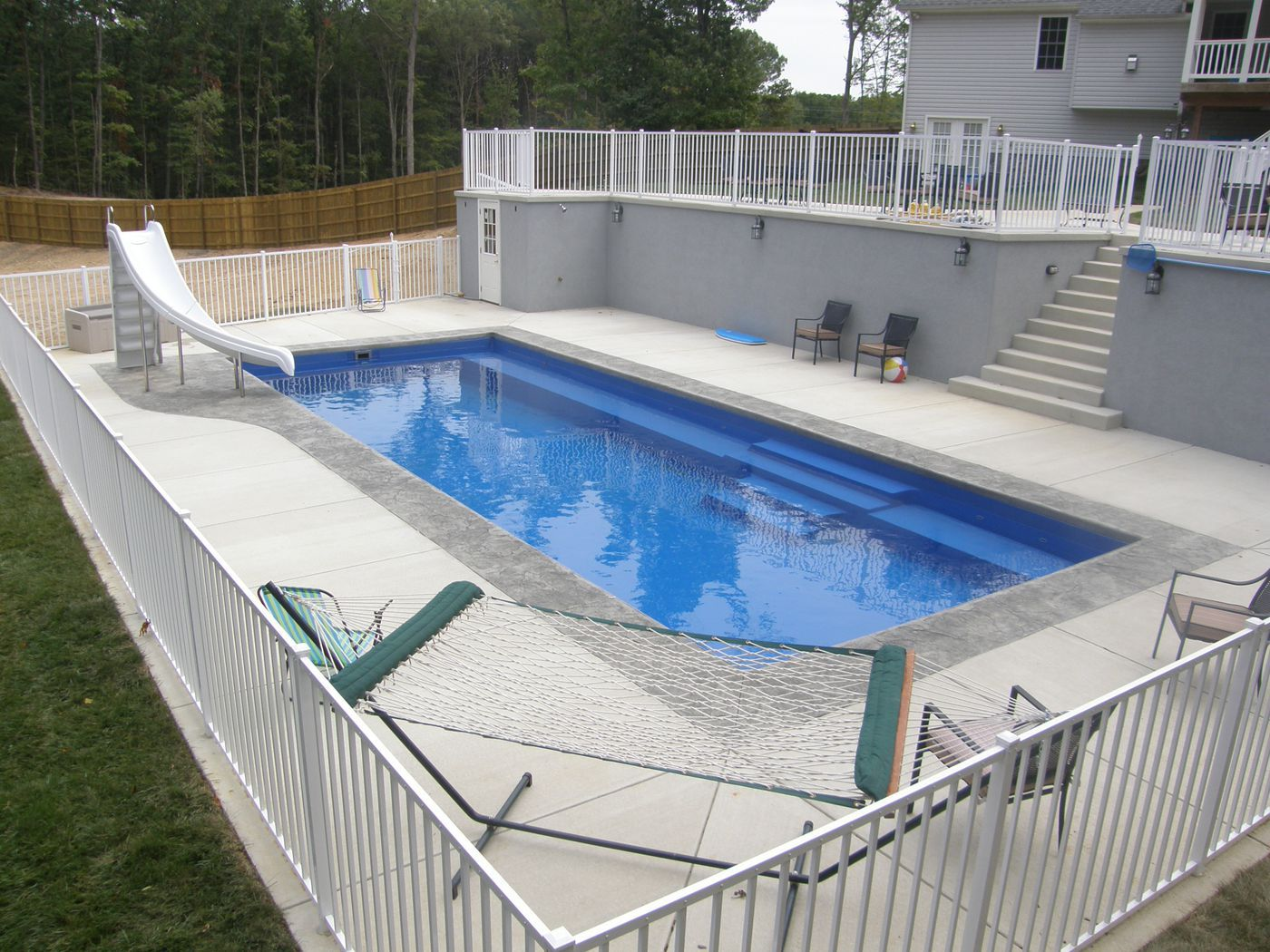 Photos of fiberglass pools for Fiberglass above ground pool