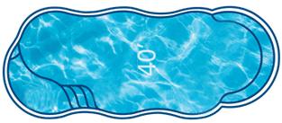 C40 fiberglass pool shape