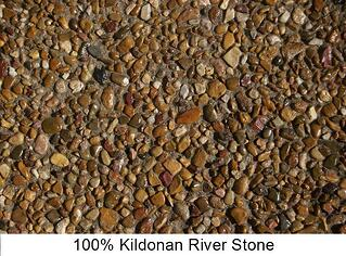 Kildonan river stone finish by AAA Concrete Services