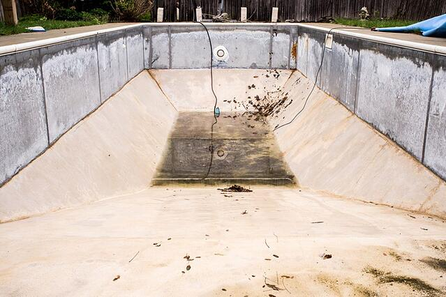 Old concrete pool - the cost to replace your concrete pool with a fiberglass pool