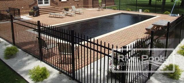 Brick pool patio