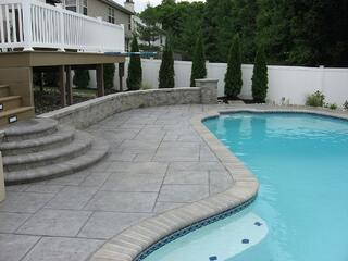 concrete coping and pool