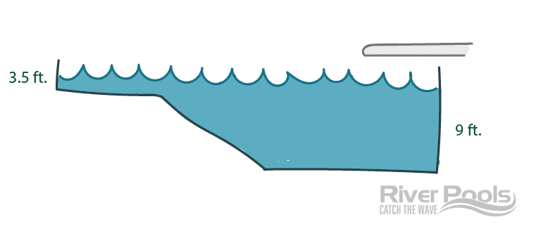 pool with deep end illustration
