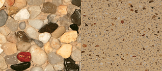 exposed vs. polished aggregate