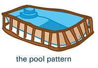 fiberglass pool pattern (illustration)