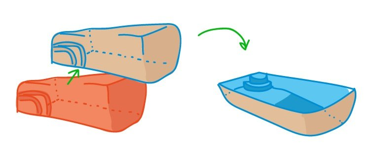 pool shell from mold (right side up) (illustration)