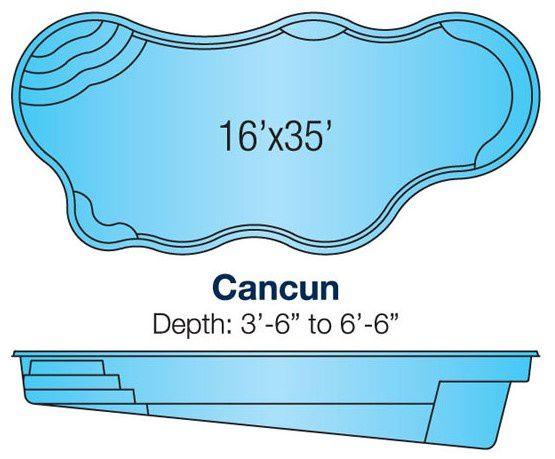 Viking Cancun pool specs/blueprint