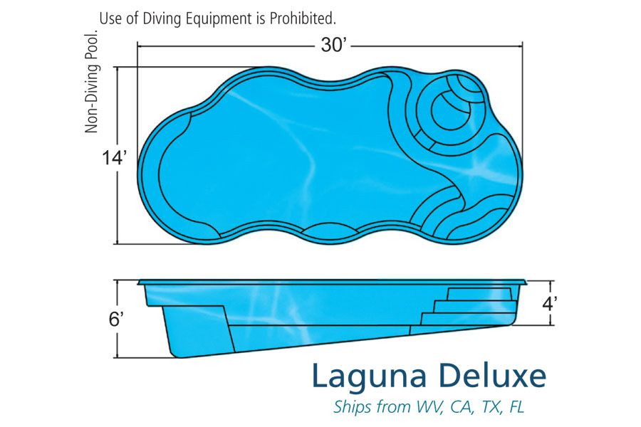 Viking Laguna Deluxe pool specs/blueprint