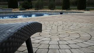 Paver pool patio