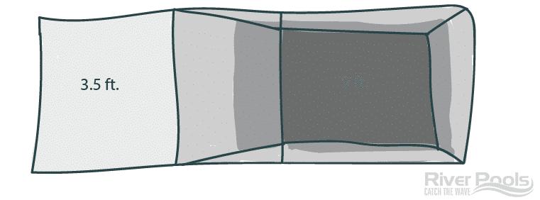 pool bottom with depth indicators