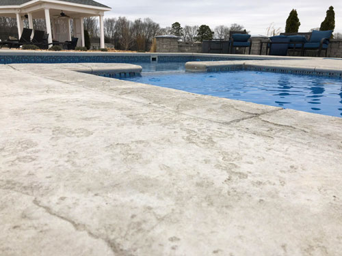 Textured concrete for a pool patio