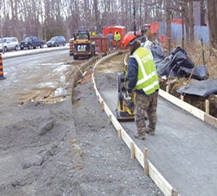 construction worker on concrete