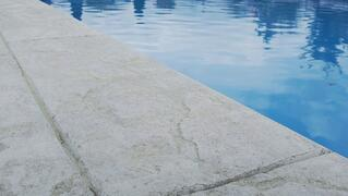stamped concrete for swimming pool patio