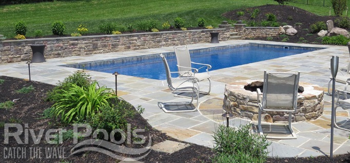 Stone Pool Patio