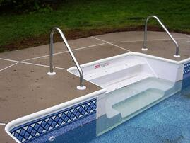 Inground vinyl liner pool steps