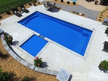 Greco (G36) fiberglass pool
