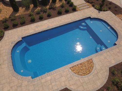 36-ft. Roman Lounger pool