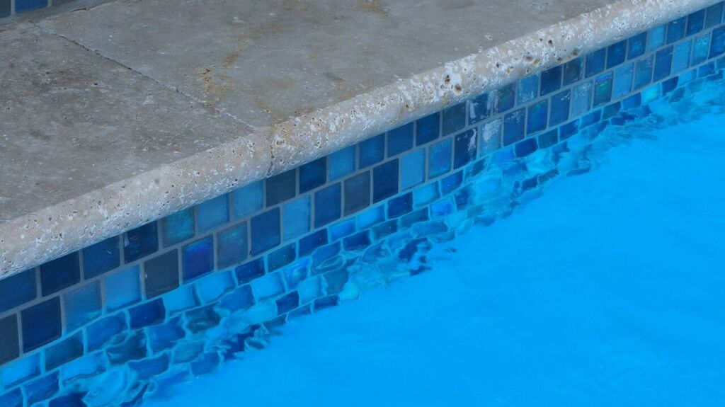 Waterline pool tile