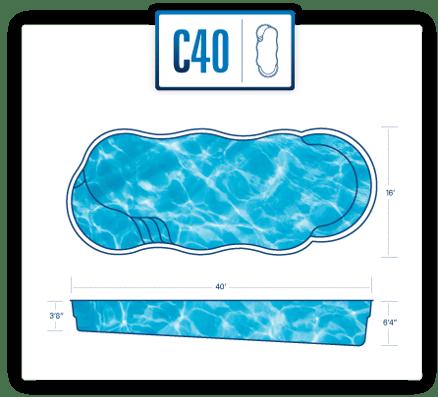 River Pools pool design specs for C40